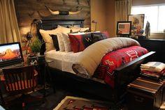 10 Enchanting Rustic Decorating Ideas For Bedroom: Rustic Bedroom Masculine Design