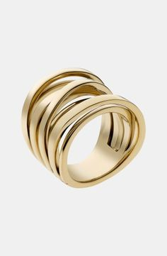 Michael Kors 'Brilliance' Large Intertwined Ring | No