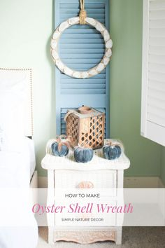 Learn to make this easy oyster shell wreath. #oystershell #oystershellwreath #coastaldecor #coastalcraft