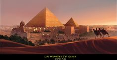 Las pirámides de Gizeh   elhistoriador.es