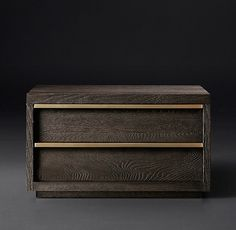 """Bezier Closed Nightstand DARK BROWN AND STAINLESS AVAILABLE 36""""W x 22""""D x 22""""H $1595 ITEM#65390866 BRNS"""