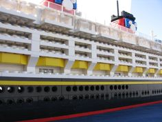 Lego Disney Cruise Ship Cabins and Lifeboats