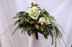 Seasonal winter hellebore bridal bouquet