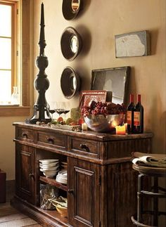 the furniture..... this is exactly what i need for my dinning table....My  Tuscan decor. I love | http://home-decor-inspirations.blogspot.com