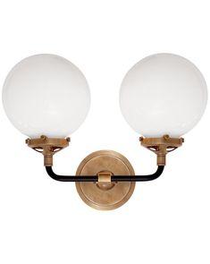Bistro Double Sconce Sconce Lighting, Vanity Lighting, Cool Lighting, Modern Lighting, Bathroom Lighting, Circa Lighting, Lighting Ideas, Kitchen Lighting, Antique Lighting