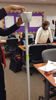 STEM Challenge- the idea is to get the cups to drop and land softly. Ping pong balls in the cups cannot bounce out!