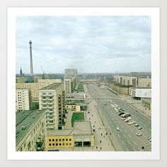 East Berlin Fernsehturm Art Print by friedasglueck Berlin, Art Prints, Design, Vintage, Gifts, Art Impressions, Design Comics