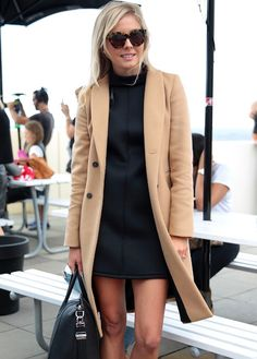 Pair your LBD with a cute coat this fall.