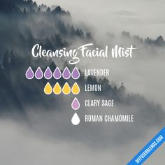 Cleansing Facial Mist - Essential Oil Diffuser Blend