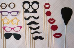 Loads of photobooth props inspiration in this Etsy shop