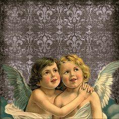 Vintage, Angels, Querubín, De Fondo