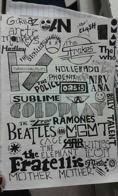 Gorillaz, arctic monkeys, awolnation,  the clash, of minsters and men, the who, the strokes, hedley, the distillers, bowling for soup, hollerado, twenty one pilots, phoenix, arcade fire, nirvana, oasis, the police, sublime, aerosmith, coldplay, billy talent, zz top, ramones, the beatles, jack white, mgmt, cage the elephant, all american rejects, red hot chili peppers, kings of leon, the fratellis, the mowglis, blink 182 , mother mother. MUSIC COMPILATION :3