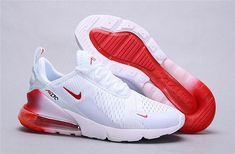 Mens Womens Winter Nike Air Max 270 Sneakers Gradient white university red - Pale Tutorial and Ideas Cute Sneakers, Sneakers Mode, Best Sneakers, Sneakers Fashion, Shoes Sneakers, Allbirds Shoes, Sneakers Adidas, Boy Shoes, Yeezy Shoes