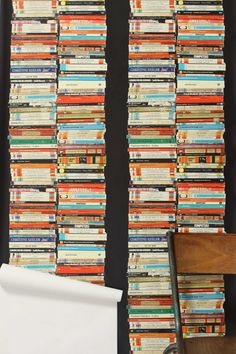 Stacked Paperback Wallpaper from Anthropologie #interiors