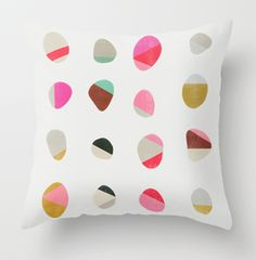 You can order art prints on pillow through Society 6 http://society6.com/ Garima Dhawan pebbles