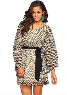 Sari Kimono-Sleeve Dress (Alloy)