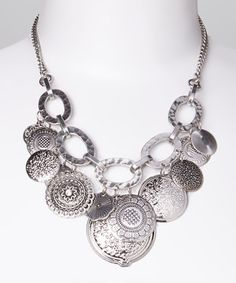 Another great find on #zulily! Silver Disk Bib Necklace by Fantasy World Jewelry #zulilyfinds