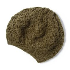 Criss Cross Cable Knit Beret | Icing