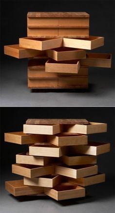Storage Furniture with a Twist: Jakob Joergensen's Fjarill Drawers - Core77