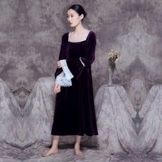 #Vintage Noble #Velvet #Night #Dress