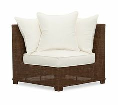 Love this!    Build Your Own - Palmetto All-Weather Wicker Sectional Components - Honey #potterybarn