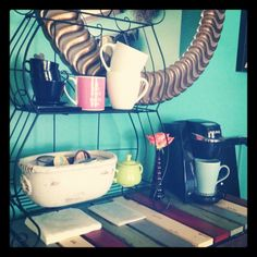 Cute home coffee station.
