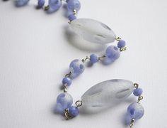 Collana lunga con le perle di vetro e Cristalli swarovski, by unikacreazionishop, 16,00 € su misshobby.com