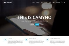 Camyno, a premium WordPress theme for multiple use. Camyno is a high-quality WordPress theme that offers great usability for a maximum of applications. Web Design, Blog Design, Page Design, Graphic Design, Wordpress Theme Design, Premium Wordpress Themes, Photoshop, Snapchat, Texture Web