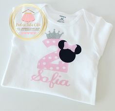 A personal favorite from my Etsy shop https://www.etsy.com/ca/listing/260098617/minnie-mouse-birthday-shirt-minnie-mouse
