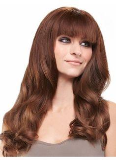 Reddish Brown Wavy Lace Human Hair Wig