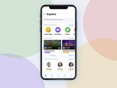 Explore Screen UI fo