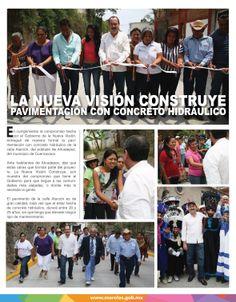 La nueva visión construye pavimentación con concreto hidráulico.