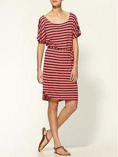 Splendid Pocket Front Stripe Tie Waist Dress | Piperlime