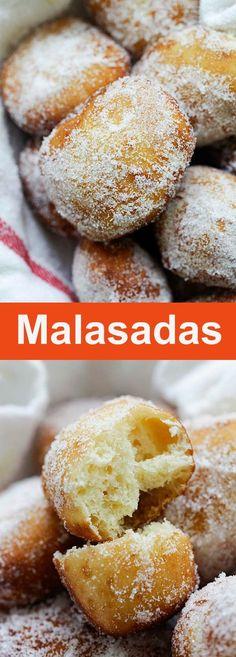 Portuguese Sweet Bread, Portuguese Desserts, Portuguese Recipes, Portuguese Donuts Recipe, Malasadas Recipe Portuguese, Portuguese Food, Easy Malasadas Recipe, Malasadas Recipe Hawaii, Sweets