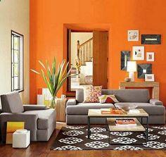 15 Close to Fruity Orange Living Room Designs Orange living rooms