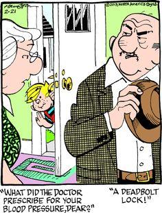 Medical menace comic strip