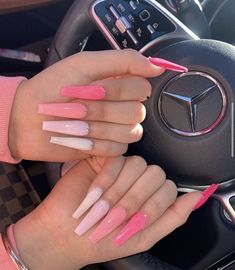 Bling Acrylic Nails, Acrylic Nails Coffin Short, Simple Acrylic Nails, Aycrlic Nails, Summer Acrylic Nails, Best Acrylic Nails, Swag Nails, Grunge Nails, Pink Acrylics