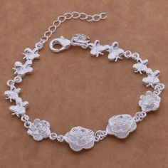 SL-AH021 Wholesale silver plating bracelet, 925 stamped silver fashion jewelry Dragonfly flowers /bcjajtqa abiaispa
