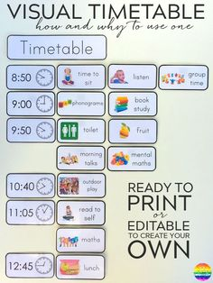 daily visual schedule for kids free printable natural beach living