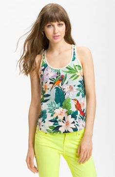 Juicy Couture Tropical Print Tank available at Nordstrom. Great print!