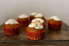 Pumpkin Muffins with White Chocolate Cream Cheese