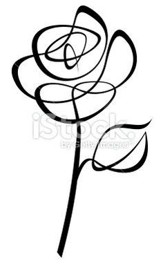 Lineart Rose Royalty Free Stock Vector Art Illustration