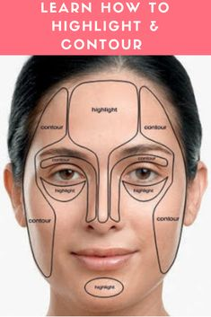 Learn How to Highlight & Contour - Makeup Tutorial Foundation Face Contouring, Contour Makeup, Contouring And Highlighting, Skin Makeup, Flawless Makeup, What Is Contouring, Contouring Products, Face Makeup Tips, Makeup Tricks