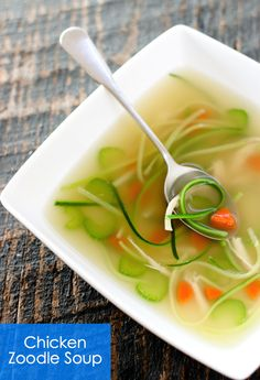 Simple Chicken Zoodle Soup - GF - Gluten Free Magazine