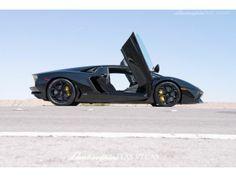 Lamborghini Aventador Getting Hot Under The Hood In The Desert!  #spon