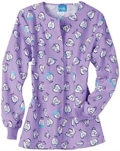 Scrubs - Cherokee Scrub H.Q. Sweet Tooth Crewneck Warm-up Jacket