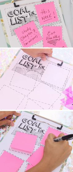 Stay on Track with Goal List | Easy DIY New Years Eve Hacks | New Years Organization Ideas Tips