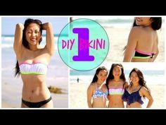 DIY Bikini Tops ♡ Part 1 from bra - YouTube