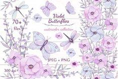 Violet Butterflies b
