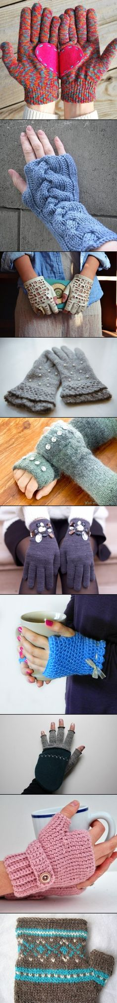 Interesting ideas for diy gloves creative ideas варежки, перчатки, вязание. Look Fashion, Diy Fashion, Womens Fashion, Diy Clothes Videos, Diy Pins, Looks Cool, Handmade Clothes, Handicraft, Knit Crochet